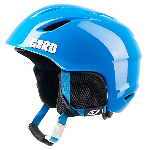GIRO Kinder Skihelm Launch, Blue Penguins, M/L, 240073-002