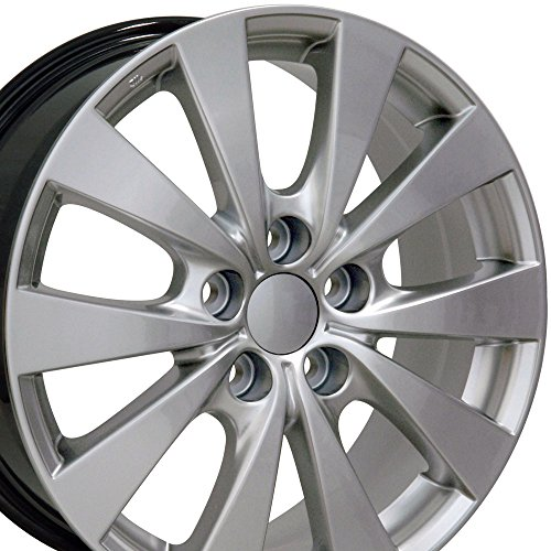 OE Wheels 17 Inch Fits Lexus ES GS HS IS LS RX SC Toyota Avalon Camry Matrix Rav4 Sienna Avalon Style TY15 Hyper Silver 17x7 Rim Hollander 69576 ()