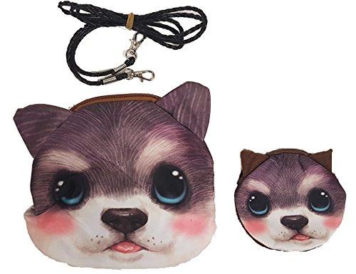 Pochette sa 6 chat chien avec assortie bandoulière bourse et chien ArP1RxwAq
