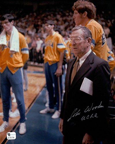 (John Wooden Signed 8X10 Autograph Photo