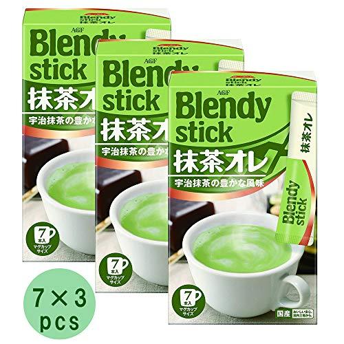 Matcha Drink Set Blendy Stick Matcha Au Lait 7 x 3pcs Japanese Green Tea Ninjapo