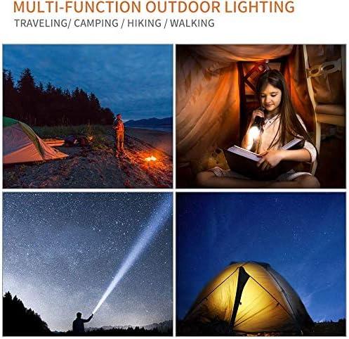 para senderismo Caza Camping Emergencia Deporte al aire libre LUXJUMPER Linterna LED XHP70 7100 L/úmenes Alta Potencia USB Recargable Tactica Alta Potencia con 5 modos Impermeable