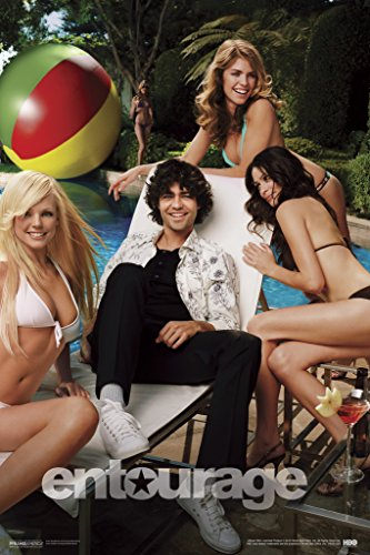 Entourage Vincent Chaise Poolside With Sexy Beautiful Women In Bikinis Poster 12x18