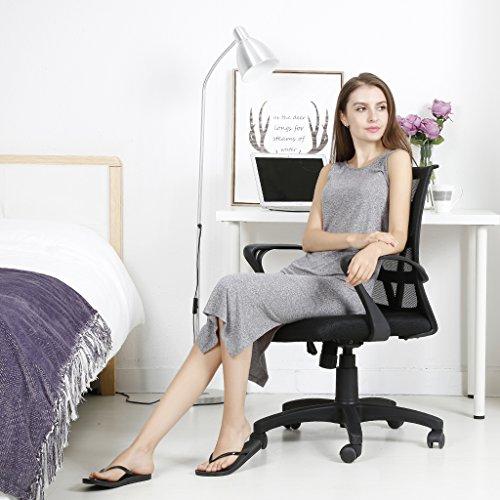 LANGRIA Comfortable V Shape Medium Back Mesh Home Office