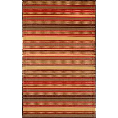 Mad Mats Stripes Indoor/Outdoor Floor Mat, 6 by 9-Feet, Warm Brown