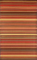 Mad Mats Stripes Indoor/Outdoor Floor Mat, 4 by 6-Feet, Warm Brown