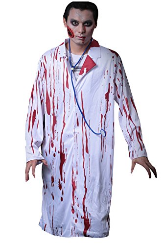 Halloween Horrible Bloody Nurse Doctor Ghost Cosplay Costume Uniform Suit For Adult (Doctor) (Horrible Toddler Halloween Costumes)