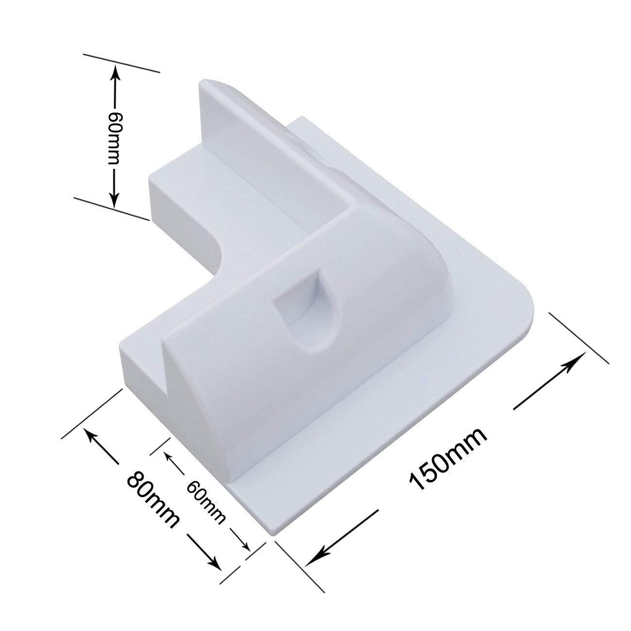 ECOWORTHY Soporte 4x para montaje en panel solar Kit esquina blanco, adhesivo, caravana: Amazon.es: Industria, empresas y ciencia