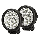"Auxbeam 2 Pcs 7"" Round Cree LED Driving Light Bumper Offroad 80w 8000lm Combo beams for Jeep ATV UTV Golf cart lighting trucks Pickup Ford f150 work light"