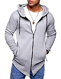 Men's Cardigan Sweater Biker Jacket With Zipper MT-1104