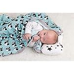 Cozyholy-Fancy-Design-100-Cotton-Baby-Muslin-Swaddle-Blankets-Swaddle-Wrap-Receiving-Blanket-Stroller-Cover-Baby-Bath-Towels-Polar-Bear-47×47-inch