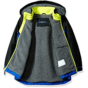 London Fog Little Boys' Hooded Midweight Jacket, Blue, 5/6