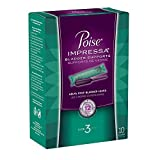 Health & Personal Care : Poise Impressa Bladder Supports, Size 3, 10 Tampons (Pack of 2)