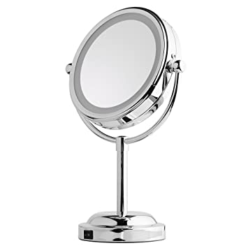my canary 6in led makeup mirror table lamps doublesided lighted vanity mirror - Lighted Vanity Mirror