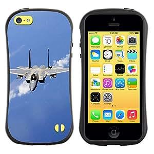 Pulsar iFace Series Tpu silicona Carcasa Funda Case para Apple iPhone 5C , Nature Fighter Jet