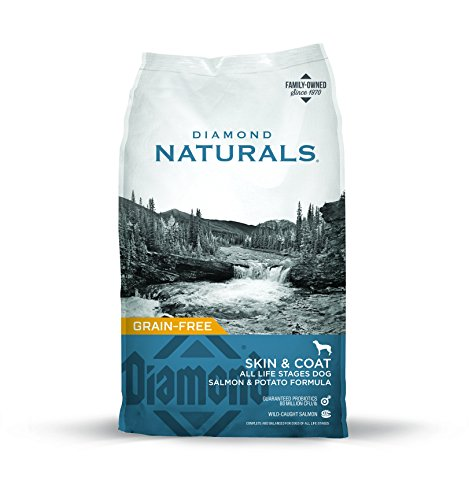 Diamond Naturals Skin & Coat Real Meat Recipe Natural Dry Dog Food with Wild Caught Salmon 30lb (Best Puppy Food For Allergies)