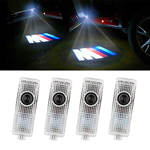JIAFENG 4 Piece Car Door LED Lighting Welcome Lights Shadow Projector for BMW