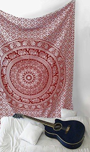 SheetKart Tapestry Wall Hanging Traditional Elephant Mandala Art - Red And - Eyeglasses Nyc Cheap