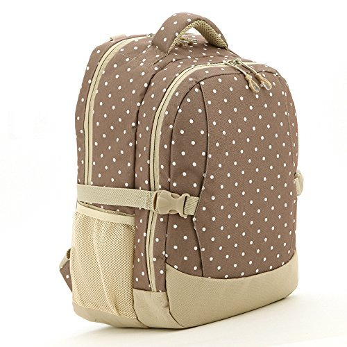 Luisvanita Diaper Bag for Mummy Multifunctional Extra Large Capacity Travel Backpack Baby Bag with Changing Pad & Stroller Buckle-Khaki Dot - Buckle Khaki