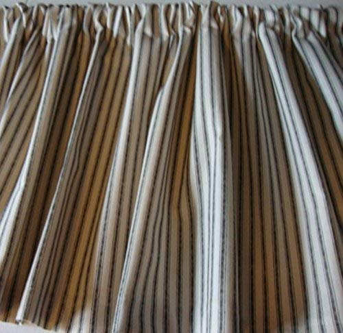 Valance Black and Cream Ticking Cotton 42