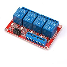GERI 12V 4-Channel Relay Module with Optocoupler H/L Level Triger for Arduino