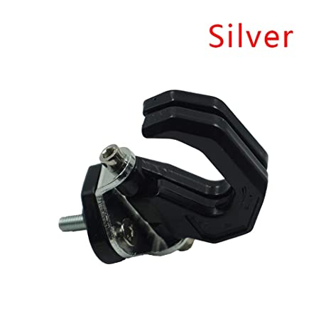Lega di alluminio del motociclo dei bagagli Casco Doppio gancio Monte moto Scooter Helmet Holder Bag Bottle Hook Hanger con vite Accessori per moto Colore : Argento