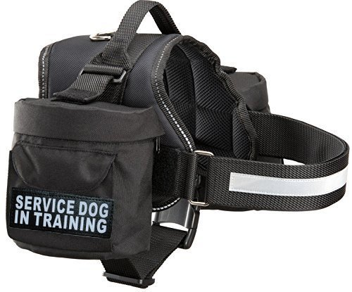 Doggie Stylz Service Dog in Training Harness with Removable Saddle Bag Backpack Harness Carrier Traveling Bag. 2 Patches. Please Measure Dog Before Ordering ()