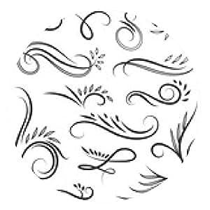 alfombrilla de ratón Ilustraciones con remolinos y hojas - ronda - 20cm