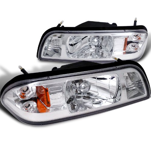 Ford Mustang Lx Gt Headlights W/Corner Lamps 1Pc. Chrome - Spec-D Tuning 2LCLH-MST87-RS