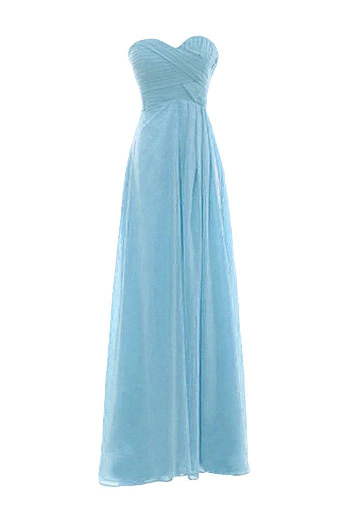 Snowskite Womens Sweetheart Long Chiffon Bridesmaid Evening Dress size 2 Blue
