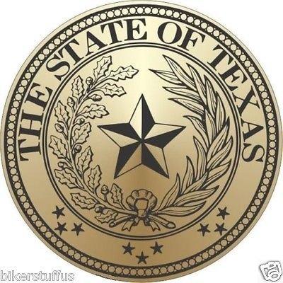 - Texas State Seal Helmet Sticker Bumper Sticker Laptop Sticker Hard HAT Sticker