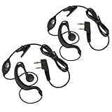 Walkie Talkies Earpieces Neoteck 2 PCS 2 Pin Two-way Radio Headsets Hands-free with Microphone for Baofeng Radio UV5R Support Neoteck Walkie Talkie Baofeng BF 5118 5118A 5180 666S 777S 888S
