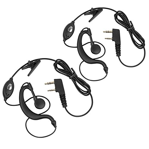 Neoteck Walkie Talkies Earpieces 2 PCS 2 Pin Two-Way Radio Headsets Hands-Free with Microphone for Baofeng Radio UV5R Support Walkie Talkie Baofeng BF 5118 5118A 5180 666S 777S 888S