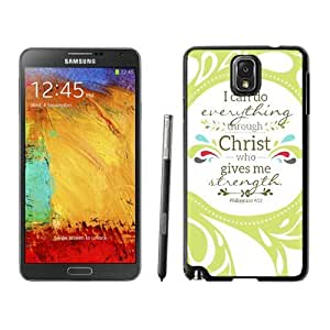Armor Protective Case for Galaxy Note 3 Case,Samsung Galaxy Note 3 Protective S View Coer Protective Case Christian Theme - Bible Verse Philippians 413 - Durable and lightweight Cover Case Samsung Galaxy Note 3 Case Black Cover