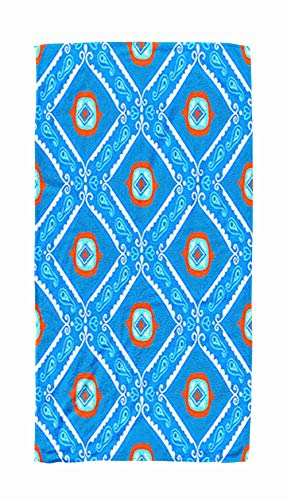 Bath Towels for Travel,Geometric Ethnic Pattern with Diamonds Triangles Stripes Lines and Flowers Tribal 30x60 Inch Large Pool Towels for Body ()