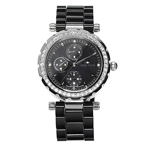 Stella Maris STM15R2 -Women's Watch - Black Watch Dial - Analog Quartz - Black Ceramic Bracelet - Diamonds - Swarovski Elements - Stylish - ()