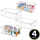 mDesign Stackable Plastic Storage Bin Box with