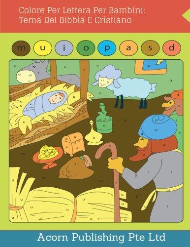 Colore Per Lettera Per Bambini: Tema Del Bibbia E Cristiano