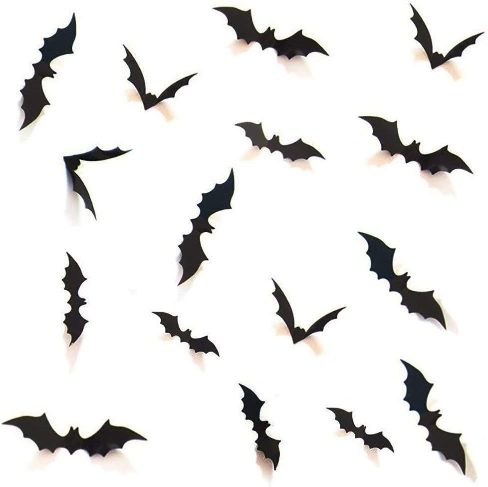 Halloween Party Supplies Decorations DIY 3D Decorative Bats Wall Decal Bat Wall Sticker Halloween Home Office Window D¨¦cor 48pcs