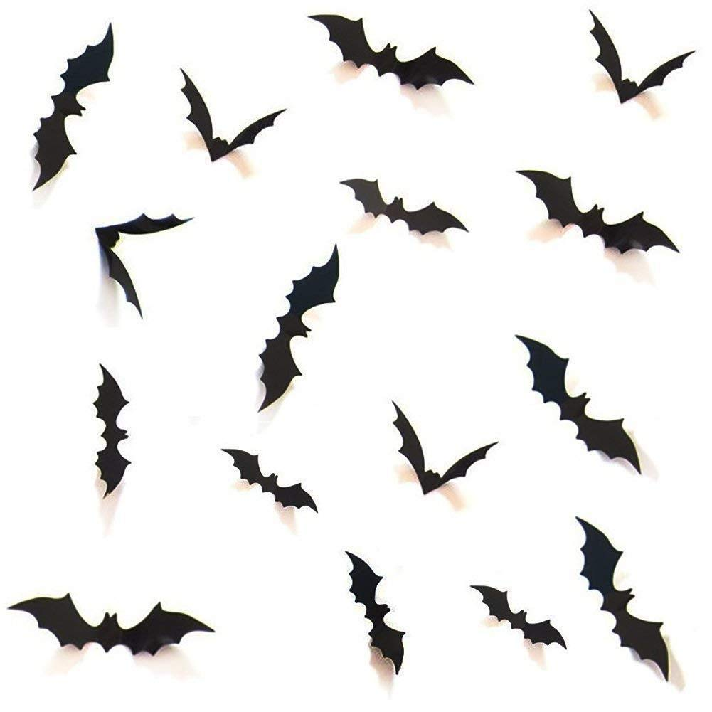 Bats Halloween Decoration D¨¦cor Costumes - DIY Black 3D Decorative Bats Wall Decal Bat Wall Stickers Halloween Party Supplies Favors Office Home Decorations 32pcs