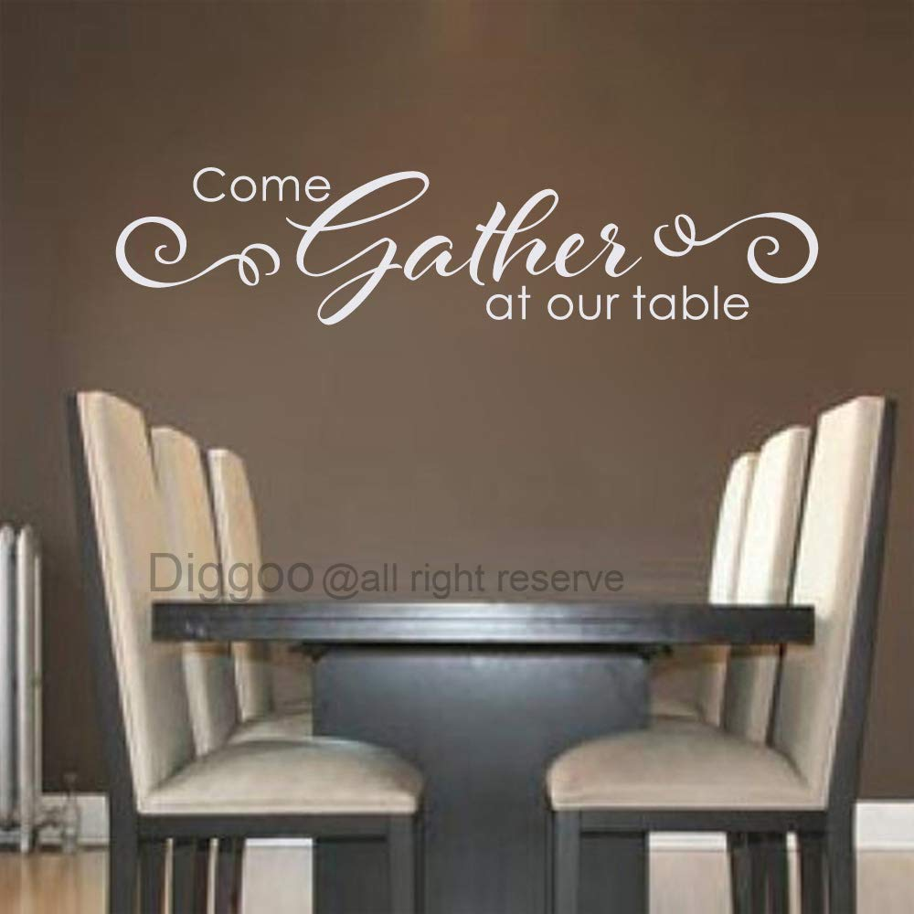 Amazon.com: Vinyl Wall Decal Come Gather at Our Table Wall ...
