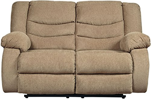 Mocha Loveseat Reclining (Signature Design by Ashley 9860486 the Tulen Reclining Loveseat, Mocha)