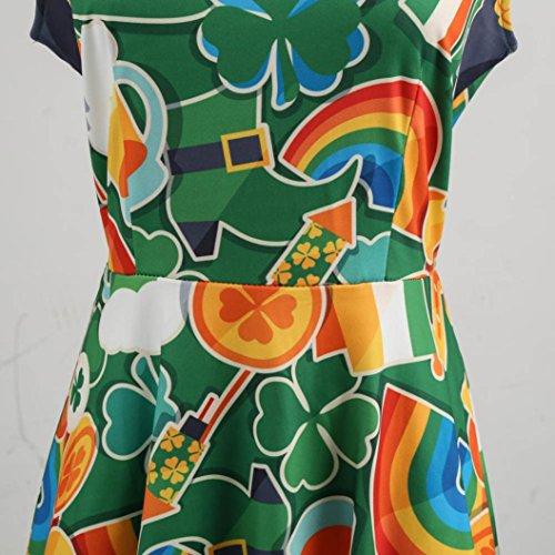 cerimonia Stampa Senza Con da donna da Maniche estivi Spalline Da B Vestiti Principessa Vestito Sui Bottoni Abito Sexy Sysnant Con BwxqYfI