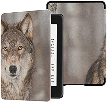 10a Kindle Paperwhite Case Gray Wolf Portrait Animal Kindle ...