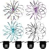 JOVITEC 4 Pieces Flow Ring 3D Spinner Ring Spring