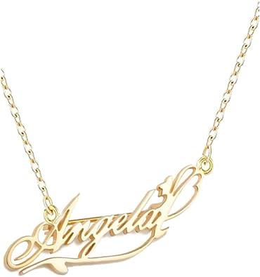 Guardian Angel Bar Custom Engraved Name Ring Crystal Necklace