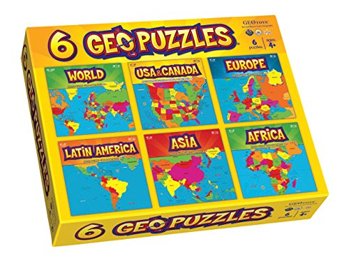 (Geotoys 6 GeoPuzzles - One Box)