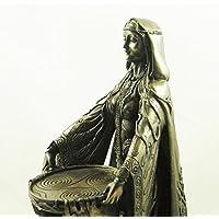 Celtic Mother Goddess of Abundance Danu Bronzed Figurine Pagan Irish Statue by Seven Secrets
