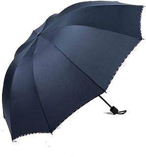 YUHUS Home Parapluie Triple Pliable Tendance Trois Manuel Simple Noir Parasol Parapluie Automatique, dix modèles manuels - Marine