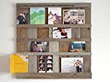 Reclaimed Barn Wood Picture Board Farmhouse Photo Memo Board 4 X 6 pictures. Mother's Day. Mother Gift. Grandma Gift. Photo Collage Frame